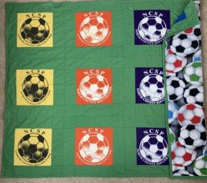 Quilt Made of Soccer Jerseys