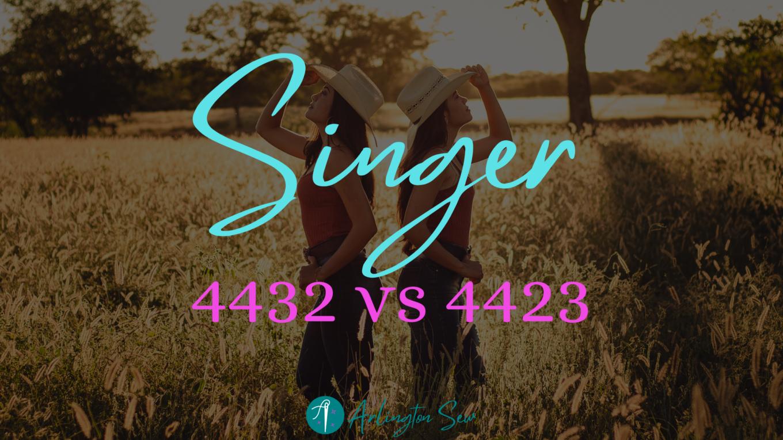 Singer 4432 vs 4423